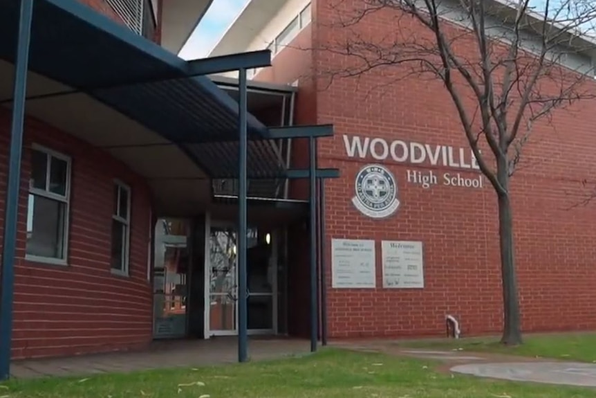 The entrance of Woodville High School
