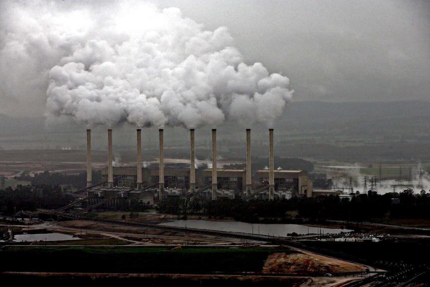 Hazelwood power station in Victoria's La Trobe Valley.