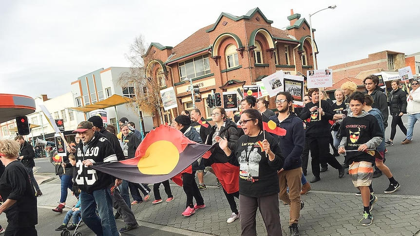 Tasmania's Aboriginal community marches in Burnie