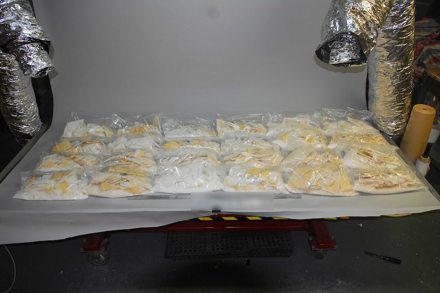 A record-breaking haul of $898 million worth of the drug ice, found in Melbourne.