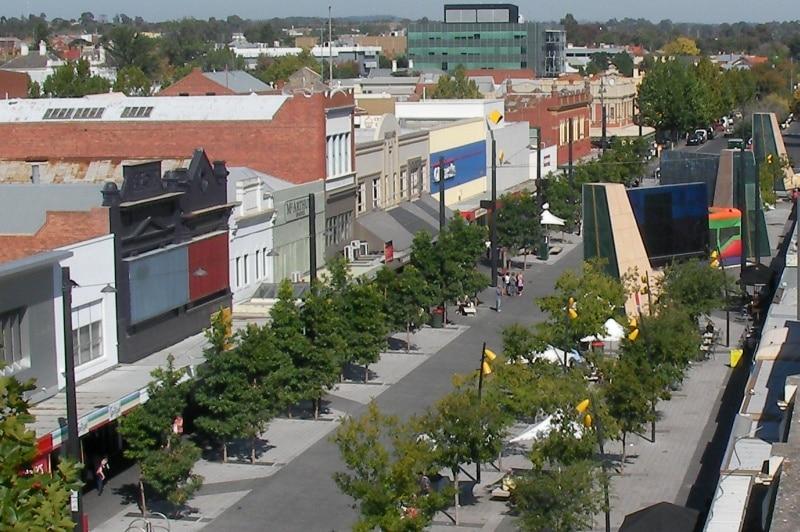 Hargreaves Mall in Bendigo.