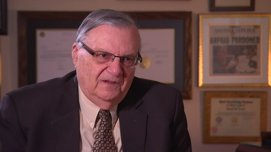 """Joe Arpaio wants to go to Washington DC to """"straighten things out""""."""