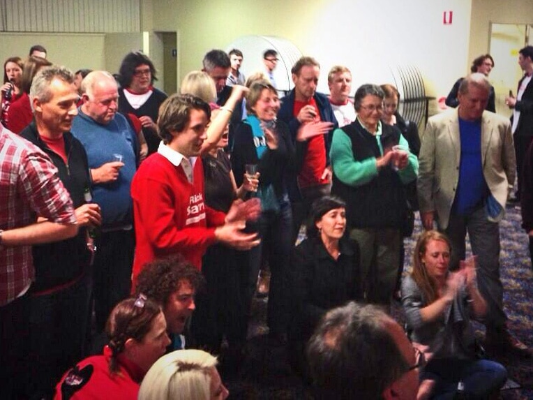 Labor supporters find something to cheer about