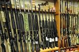 A gun shop in the USA.