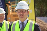 Steven Marshall at Cancer Council sod turn
