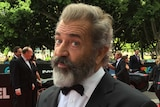 Mel Gibson at the AACTA Awards red carpet in Sydney.