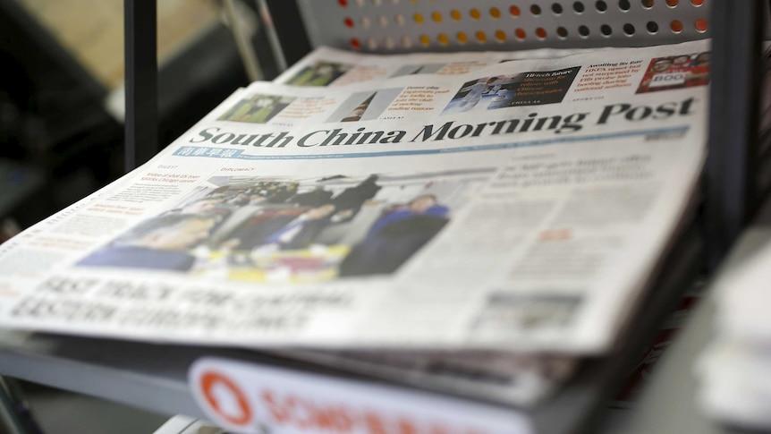 South China Morning Post at news stand