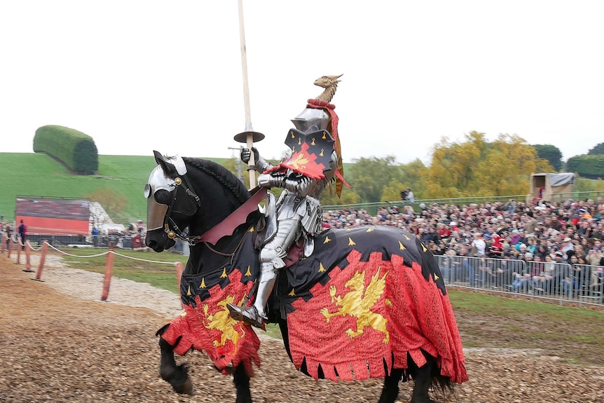 Medieval jousting competition