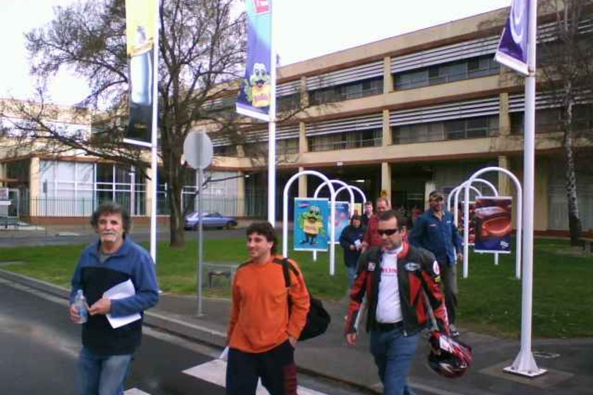 Cadbury workers leave Claremont factory August 2008
