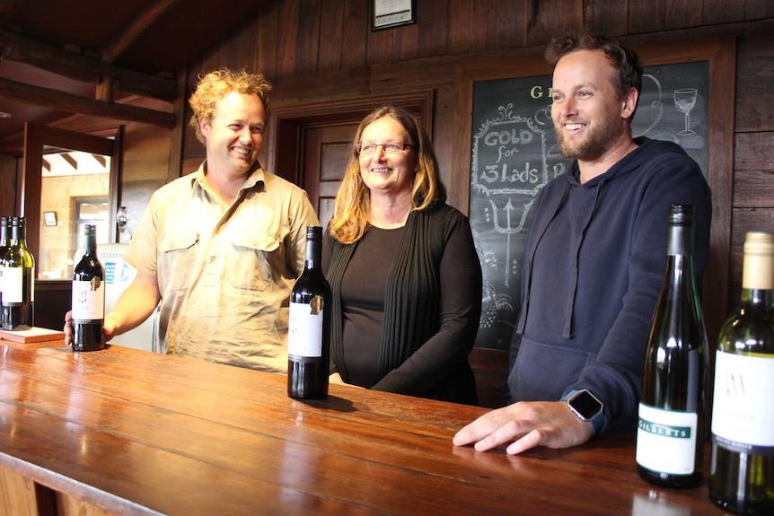 brothers in vineyard