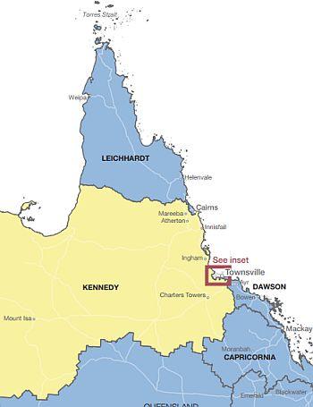North Queensland federal electoral boundaries gazetted in 2009