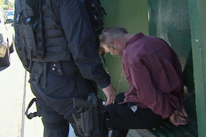 Matthew Francis Leach when arrested by police.