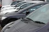 cars in a car yard