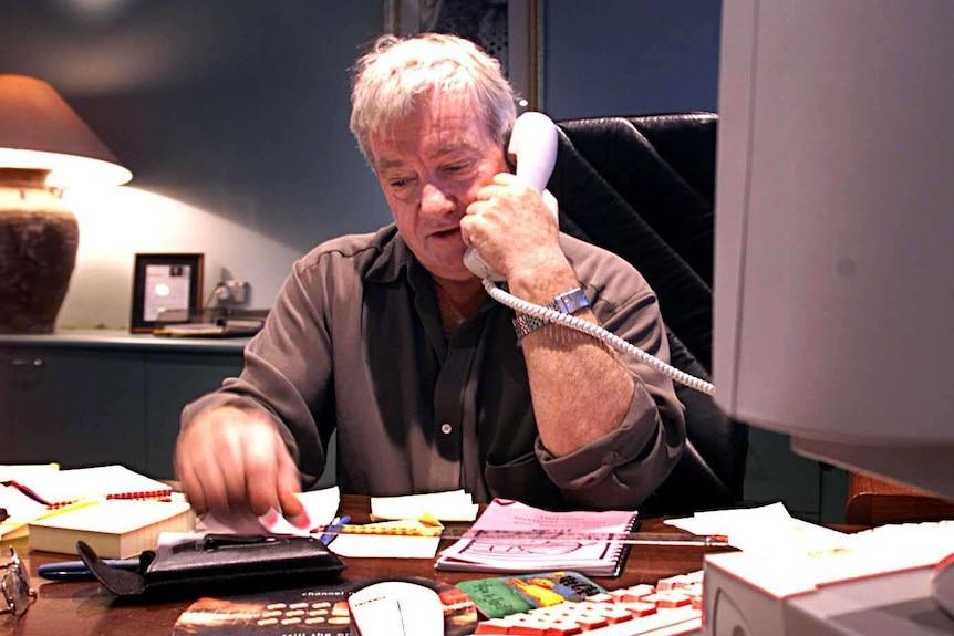 Peter Meakin speaks on the phone