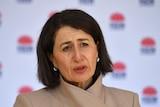 Gladys Berejiklian talks to the media