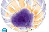 Image of the ozone hole from the OMI satellite for 6 October, 2015