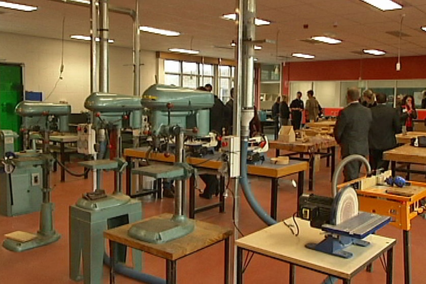 Inside the new design and technology centre at Bridgewater High School.