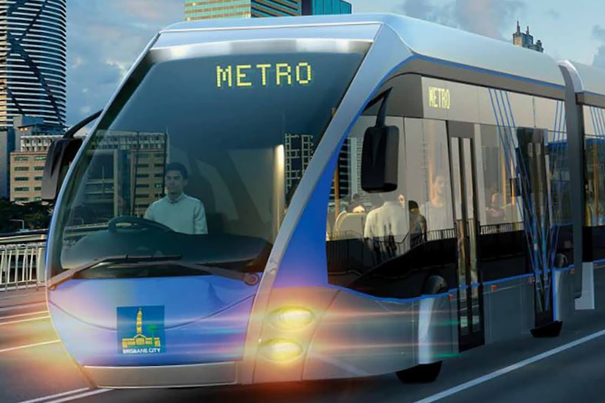 An artist's impression of the new Brisbane Metro bus
