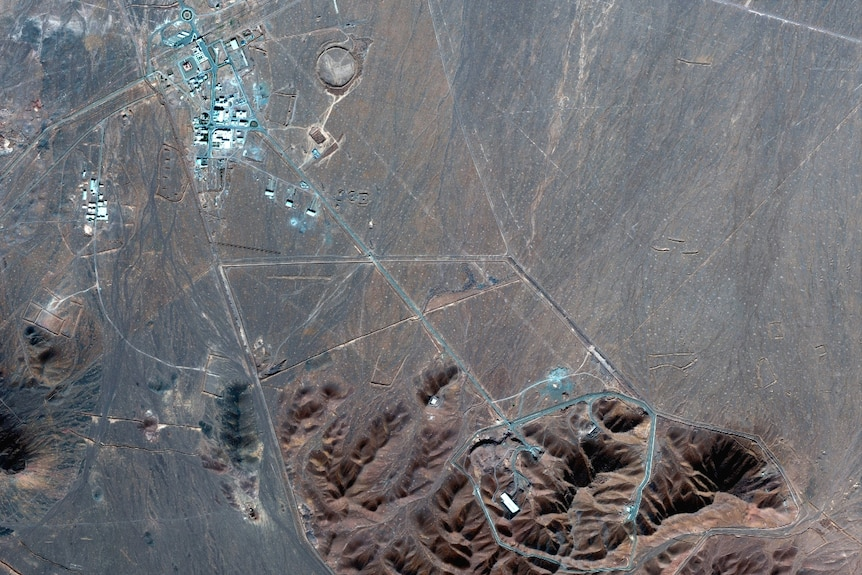a satellite photo of Iran's Fordo nuclear site