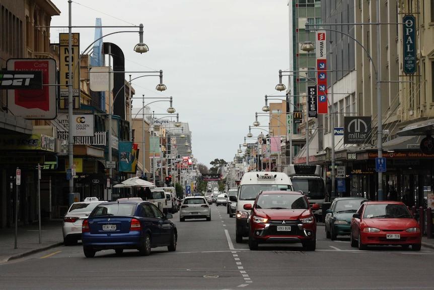 Hindley Street in Adelaide CBD