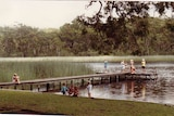 A photo taken in 1989 shows healthy levels on one of the larger Thirlmere Lakes.