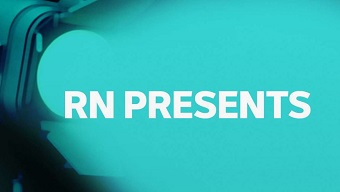 The teal-coloured logo for RN Presents.