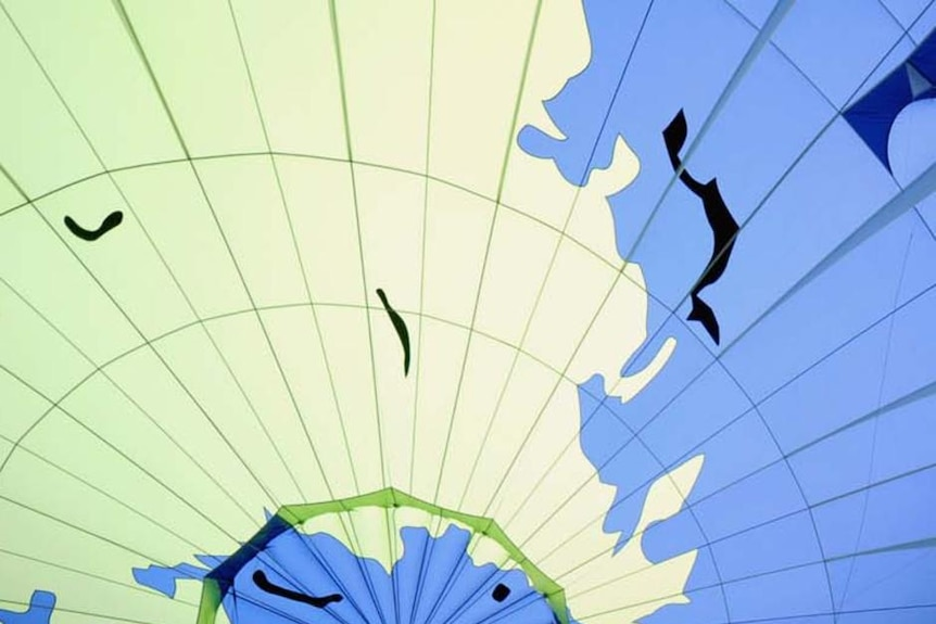 Hot-air balloon at climate conference