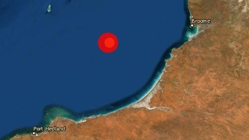 A map showing the epicentre of the earthquake.