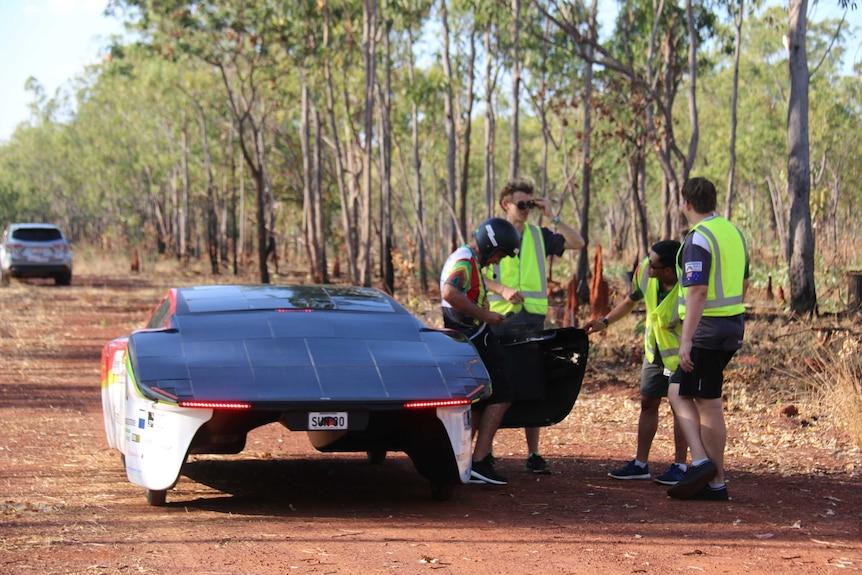 Solar cars at camp