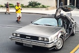 The DeLorean made famous in Back to the Future fully equipped with Queensland numberplates.