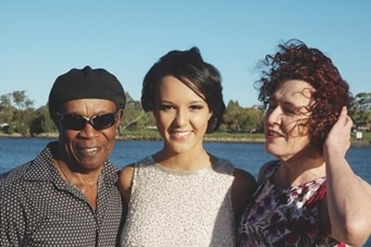 Hannah Laxton-Koonce and her mother and father.