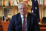 The Prime Minister in his office