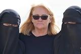 Karen Nettleton, Hoda, Zaynab infront of their tent
