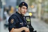 Police patrol deserted Barcelona street after Las Ramblas attack