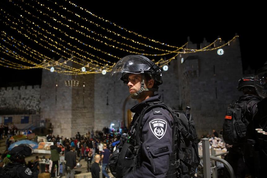 Choques israelíes y palestinos