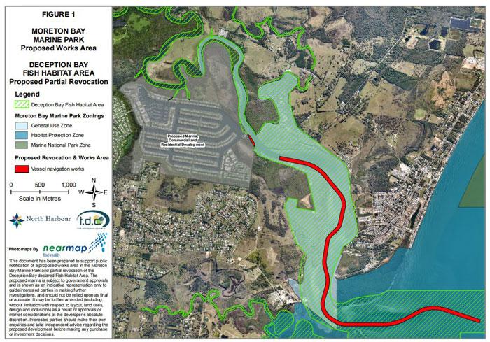North Harbour Development map