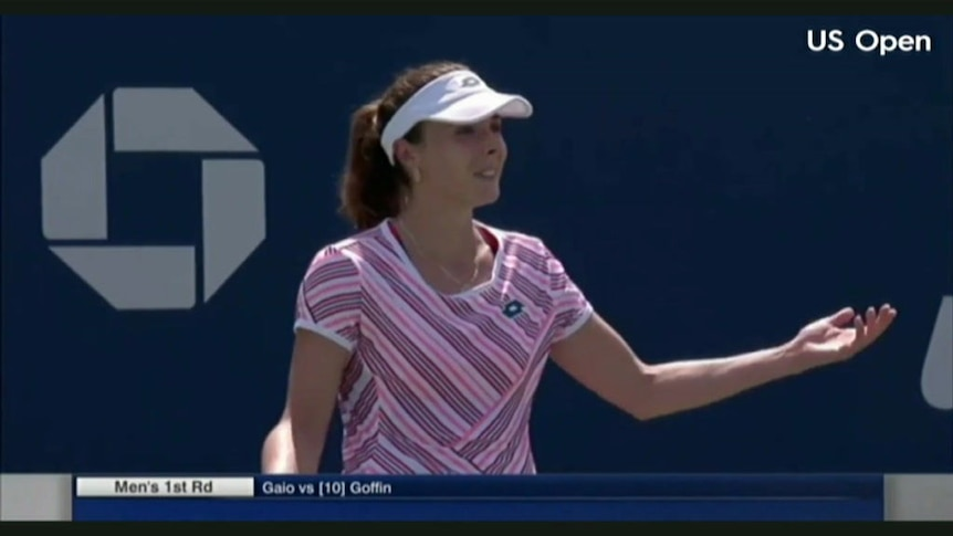 Cornet given code violation for on-court shirt change