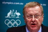 John Coates at an AOC media conference in Sydney August 23, 2013.