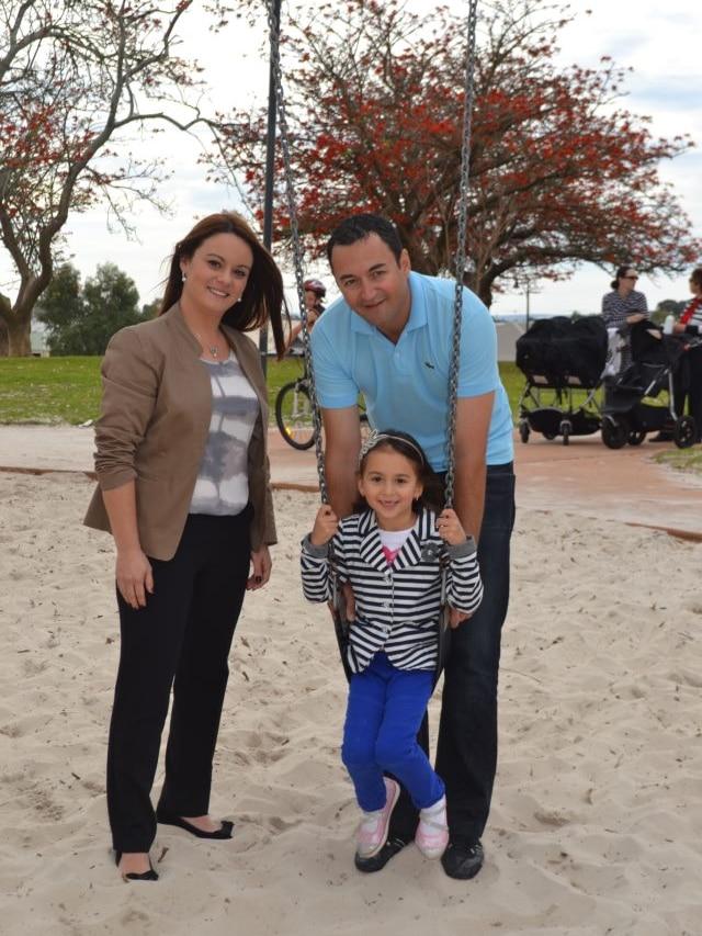 Klara Andric with her family