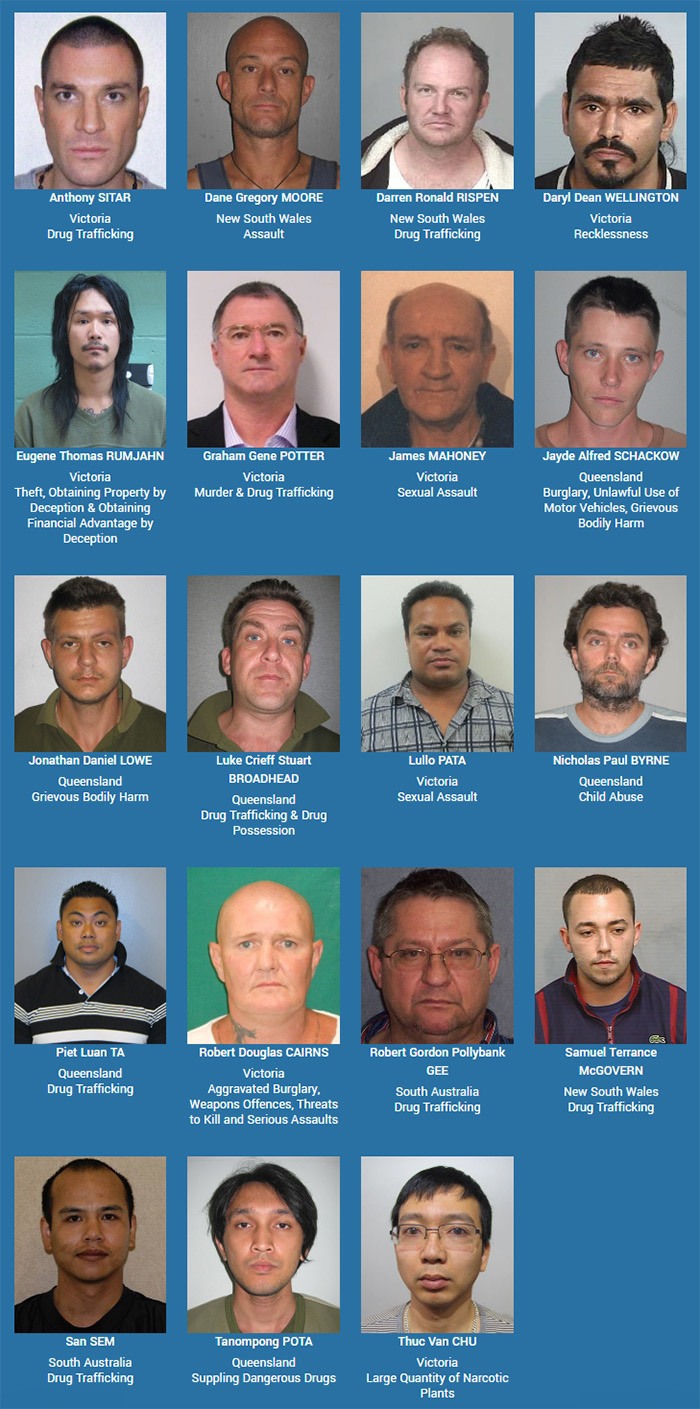 Crime StoppersOperation ROAM – Fugitive Huntaims to apprehend thesekey persons of interest across the nation.