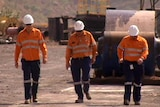 Fly-in, fly-out workers at a WA mine site.