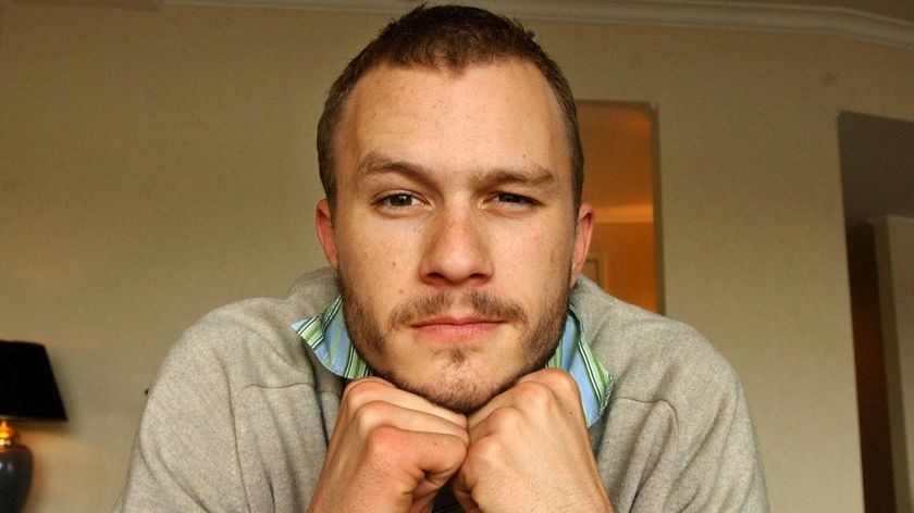Heath Ledger at the Park Hyatt in 2003 to promote his film Ned Kelly.