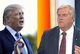 A composite image of Donald Trump and Kim Beazley.