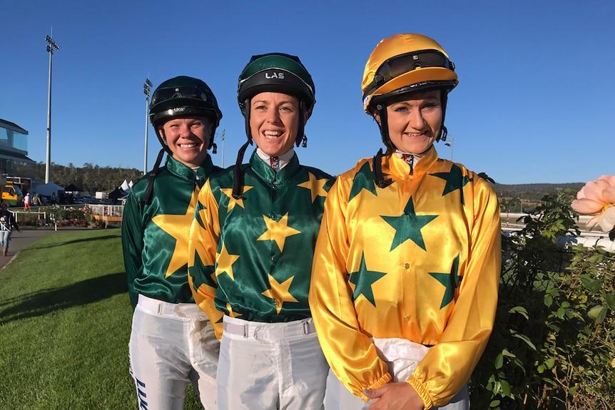 Young women jockeys