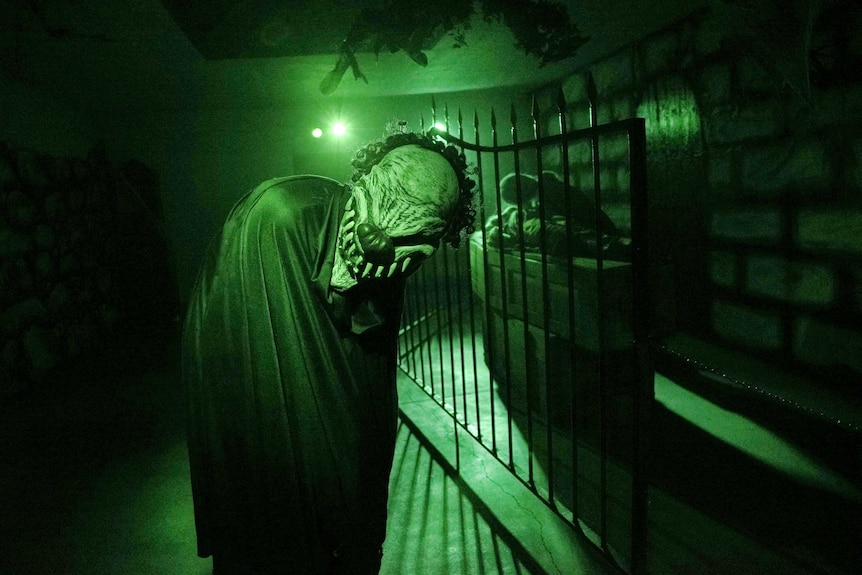 A Nazi bomb shelter is now a haunted house.