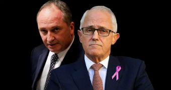 Barnaby Joyce and Malcolm Turnbull.