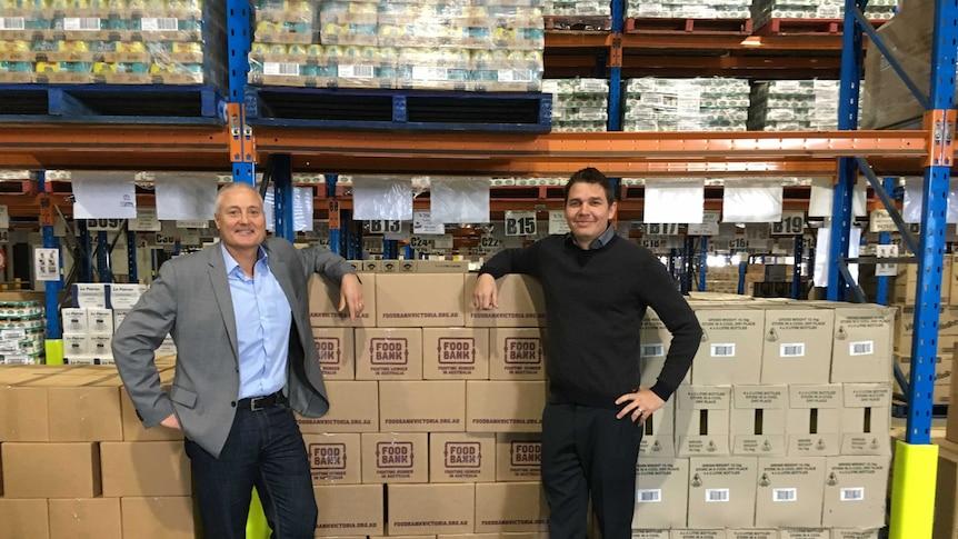 Foodbank Victoria CEO, Dave McNamara and School Breakfast Club Program Manager, Pete Zwiers