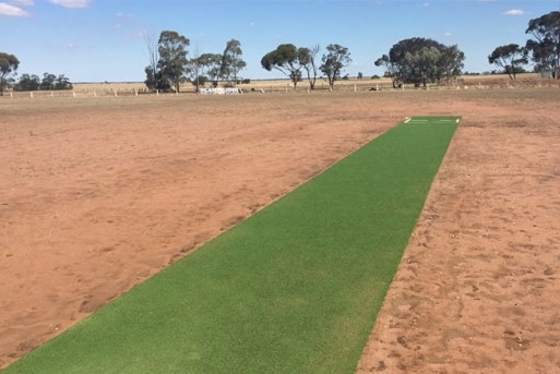 A very dry cricket ground in Victoria.
