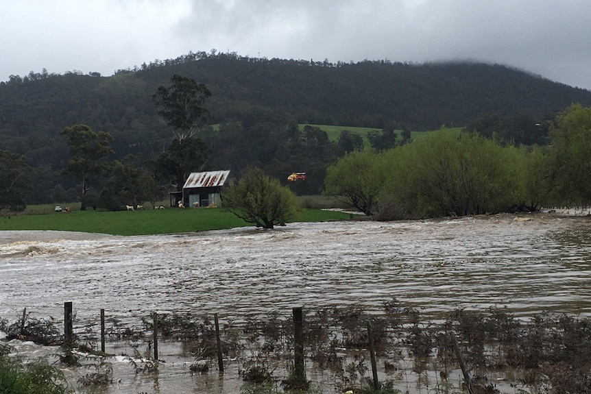 Helicopter rescue Huonville