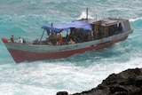 The boat crashed into rocks on Christmas Island last December.
